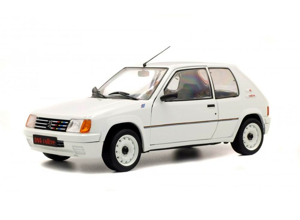 miniatures autos 1 18 solido peugeot peugeot 205 rallye de 1987 voiture de collection 1. Black Bedroom Furniture Sets. Home Design Ideas
