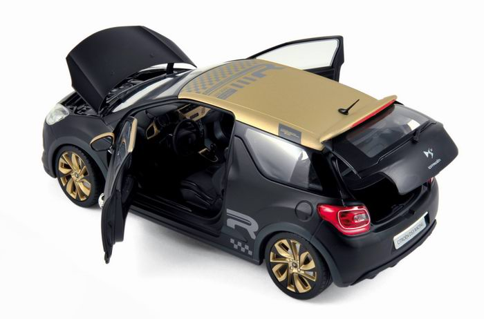 voiture citro n ds3 racing 2013 noir mat et or norev 1 18 ebay. Black Bedroom Furniture Sets. Home Design Ideas