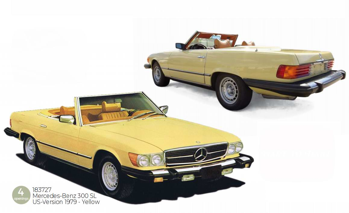 MERCEDES-Benz 300SL Américaine version USA 1979 1/18 NOREV
