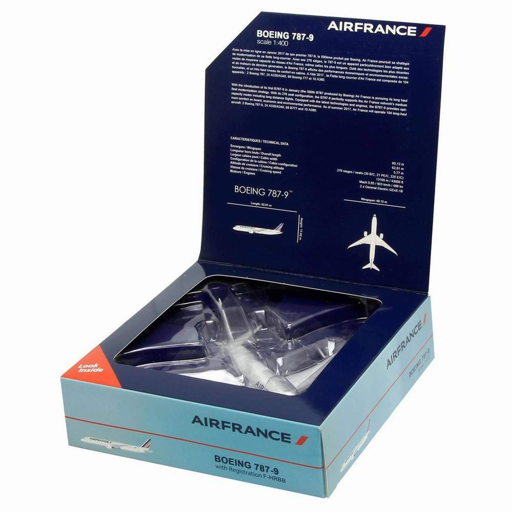 Maquette B787-9 F-HRBB Dreamliner AIR FRANCE 1/400