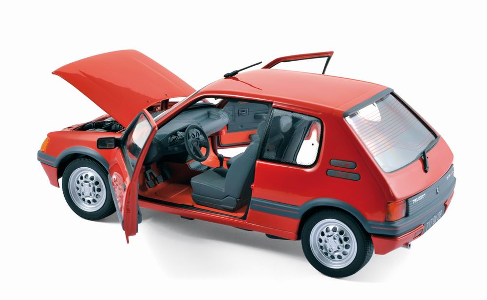 voiture peugeot 205 gti 1 6l 1988 rouge norev 1 18 ebay. Black Bedroom Furniture Sets. Home Design Ideas