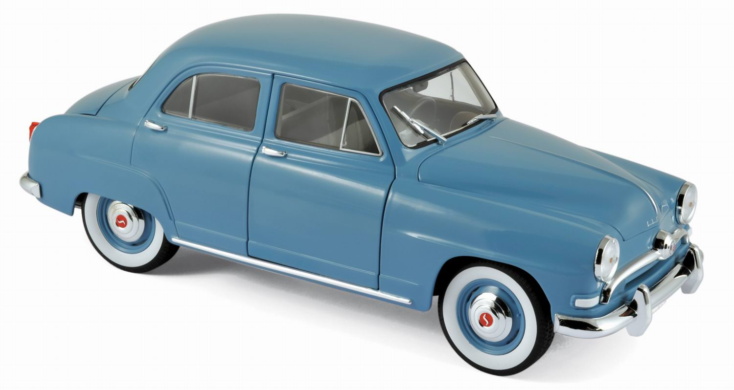 simca aronde 1954 bleu clair voiture de collection norev 1 18 ebay. Black Bedroom Furniture Sets. Home Design Ideas