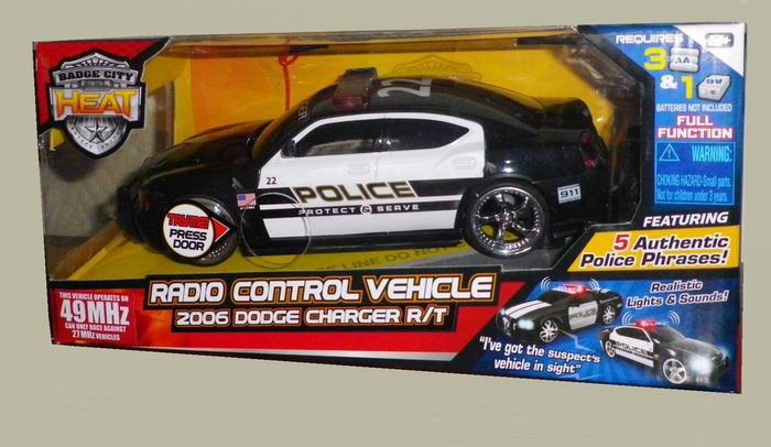 DODGE CHARGER R/T POLICE R/C Police Américaine<br>Radio Commandé 1/20 JADA BADGE CITY