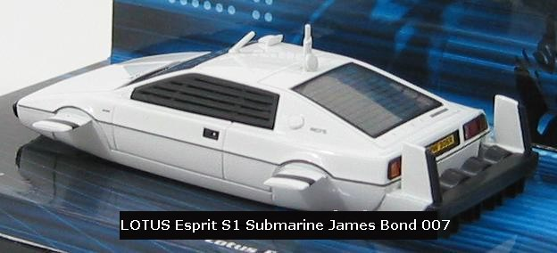 LOTUS S1 Sous Marin du film L'Espion qui m'aimait 1/43 James Bond 007
