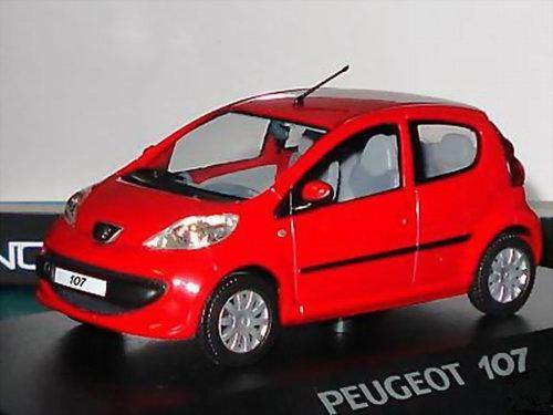 PEUGEOT 107 Rouge 2005 NOREV 1/43