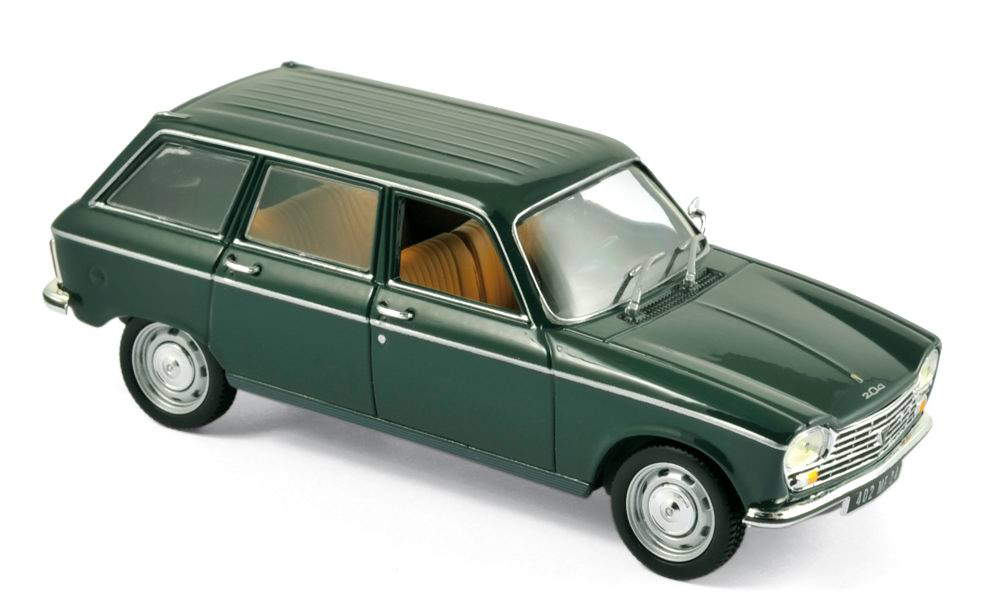 Voiture miniature PEUGEOT 204 break NOREV 1/43