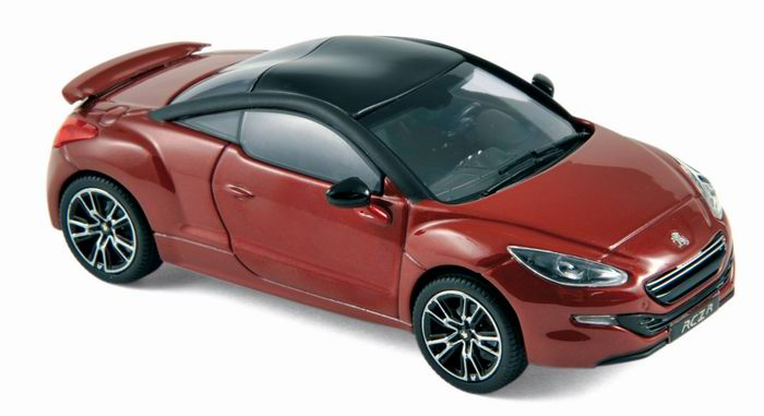 voiture miniature peugeot rcz r de 2013 rouge avec toit noir mat 1 43 norev ebay. Black Bedroom Furniture Sets. Home Design Ideas