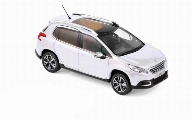 Diecast model car white PEUGEOT 2008 2013 NOREV 1/43