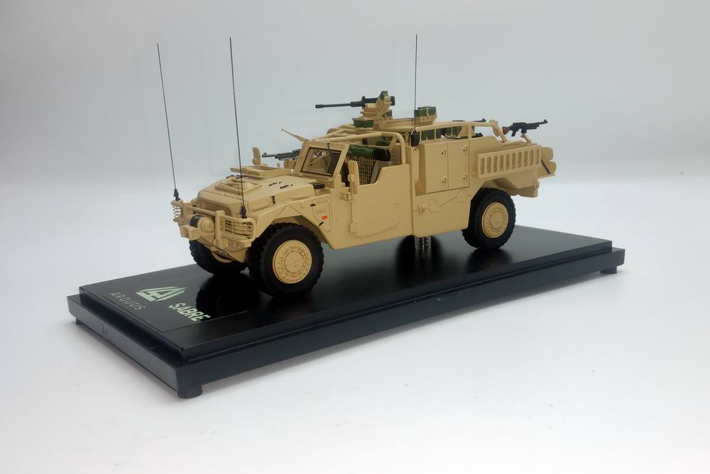 Miniature Voiture RENAULT SHERPA LIGHT PLFS SABRE ARQUUS VEHICULE LOURD DES FORCES SPECIALES 1/48 MASTER FIGHTER BY GASO.LINE