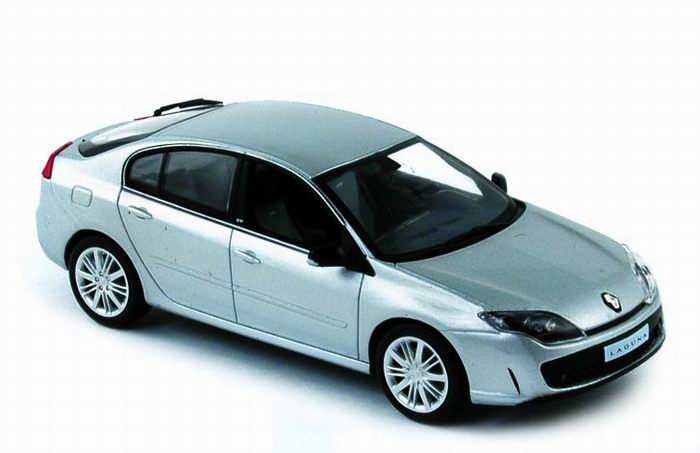 Platinum Grey Laguna GT Saloon Car/Sedan Car Renault NOREV 1/43