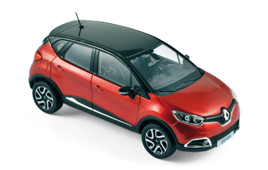 voiture renault captur 2013 rouge et noir norev 1 43 ebay. Black Bedroom Furniture Sets. Home Design Ideas
