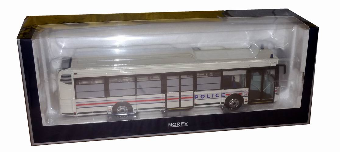 Miniature bus IRISBUSAgora CITELIS Police Nationale 2008 1/43 NOREV