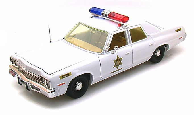 figurines voitures films s ries voiture dodge monaco 1974 police de la s rie sh rif fais. Black Bedroom Furniture Sets. Home Design Ideas