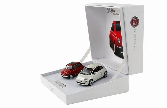 Coffret 50ème anniversaire Fiat 500 NOREV 1/43