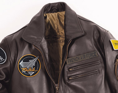 blouson en cuir pilote leader one dassault aviation marron taille l ebay. Black Bedroom Furniture Sets. Home Design Ideas