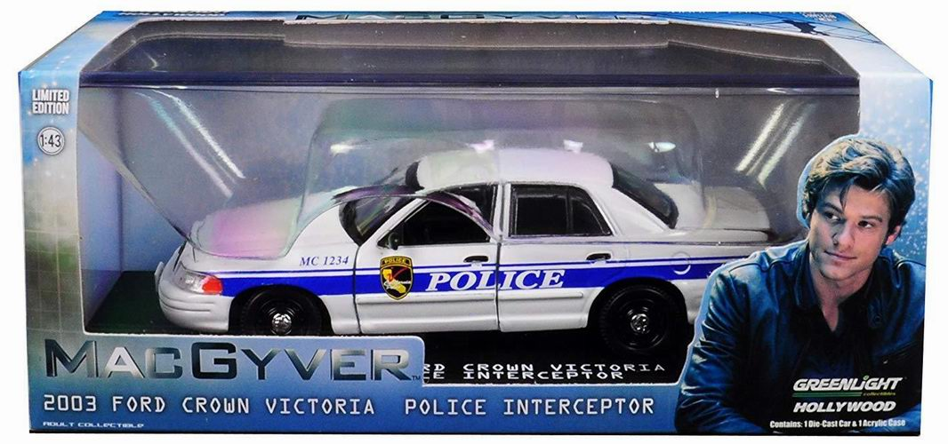 Voiture FORD CROWN VICTORIA 2003 POLICE INTERCEPTOR CALIFORNIA MCGYVER 1/43