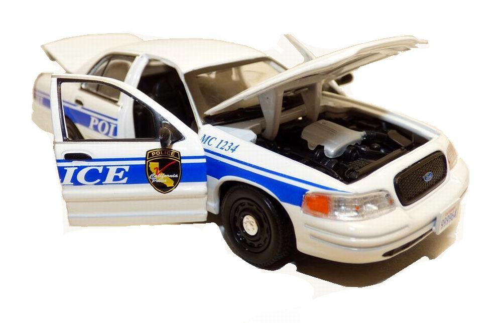 Voiture FORD CROWN VICTORIA 2003 POLICE INTERCEPTOR CALIFORNIA MCGIVER 1/43