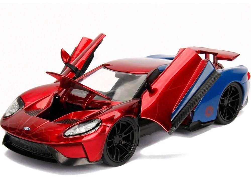 Nouveaut s voiture miniature ford gt 2017 avec figurine spiderman marvel en m tal 1 24 - Spiderman voiture ...
