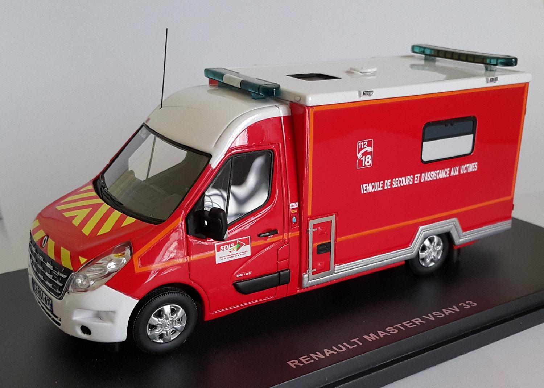 camion pompiers renault master 3 caisson vsav 33 gironde 1 43 alerte ebay. Black Bedroom Furniture Sets. Home Design Ideas