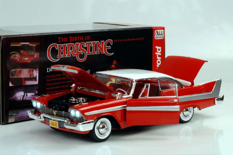 Diecast model car Plymouth Fury 1958 du film Christine Autoworld 1/18