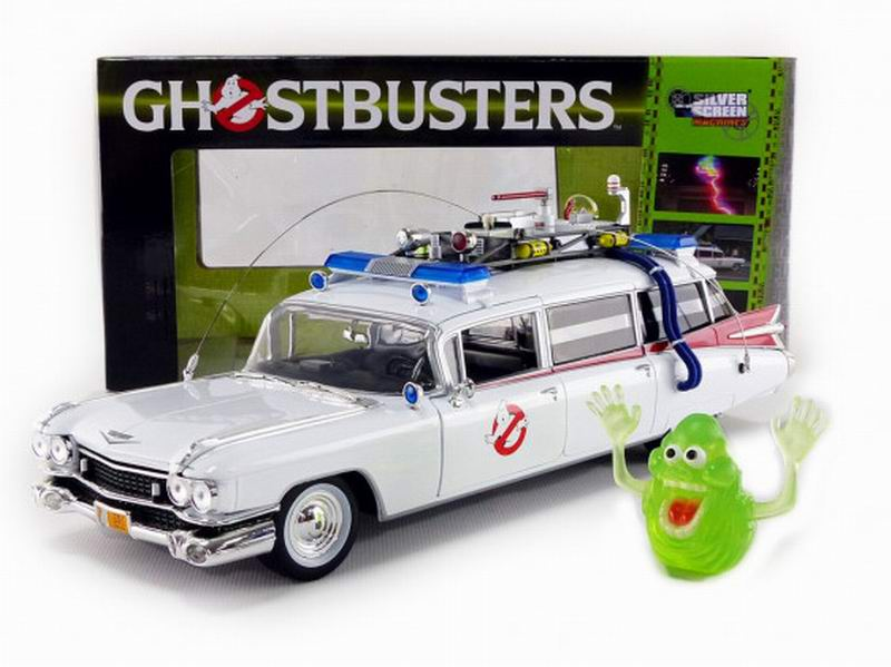 Movies Cadillac Ghostbusters Ecto 1 Ambulance Diecast Model Car 1