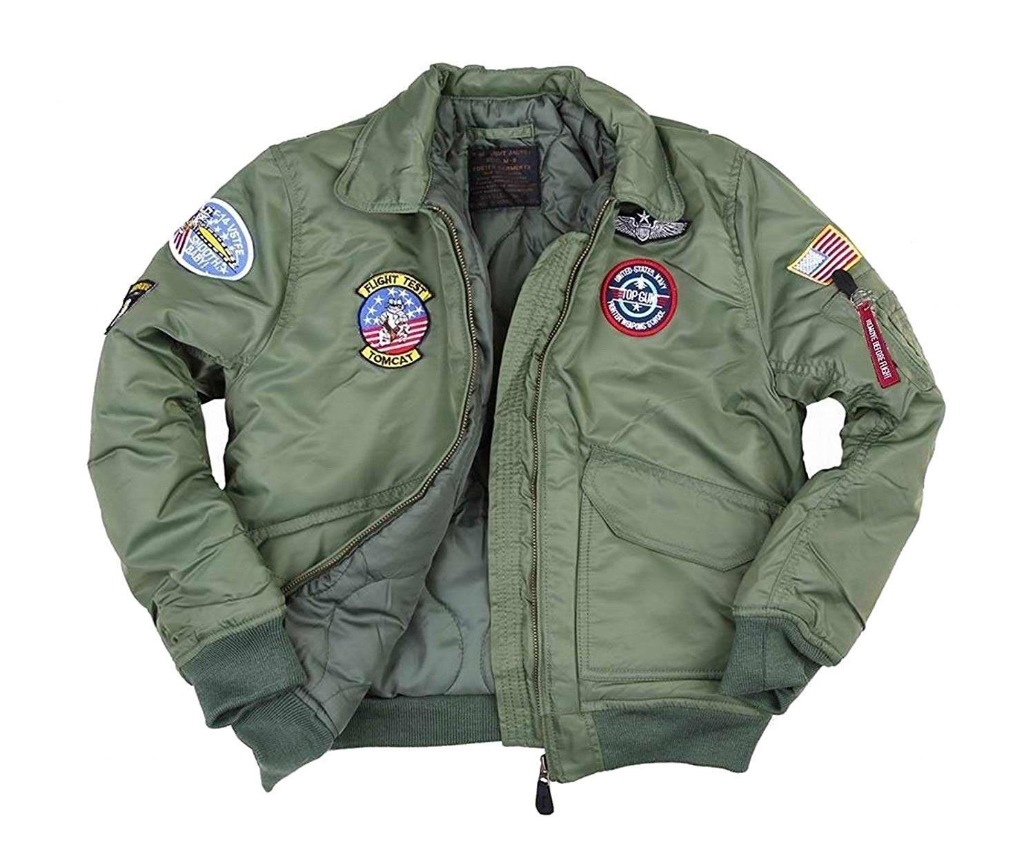 Green Sage Top Gun B-52 Flight Jacket