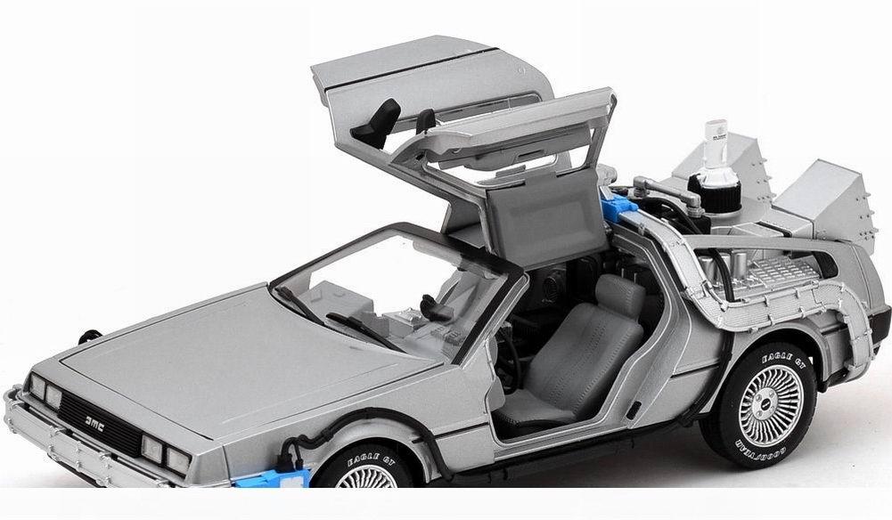 voiture delorean 2 retour vers le futur ii en m tal mr fusion hotwheels 1 18 ebay. Black Bedroom Furniture Sets. Home Design Ideas