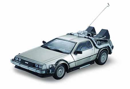 voiture delorean 1 retour vers le futur en m tal au 1 18 back to the future ebay. Black Bedroom Furniture Sets. Home Design Ideas
