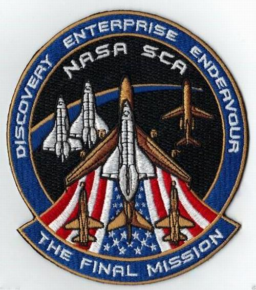 Patch NASA Navette Spatiale DISCOVERY ENTERPRISE ENDEAVOUR The Final Mission