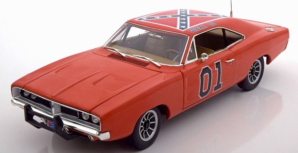 dodge charger sh rif fais moi peur dukes of hazzard g n ral lee 1 18 antenne ebay. Black Bedroom Furniture Sets. Home Design Ideas