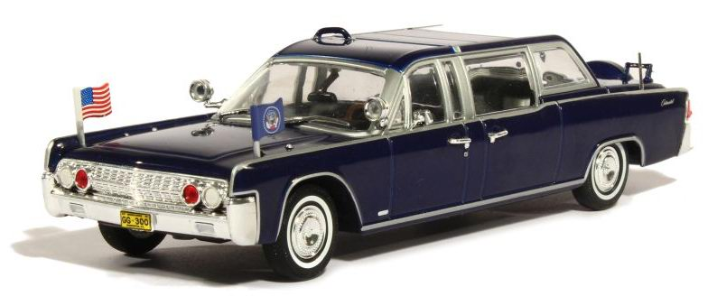 Lincoln CONTINENTAL SS-100-X Voiture Présidentielle JFK Kennedy 1/43
