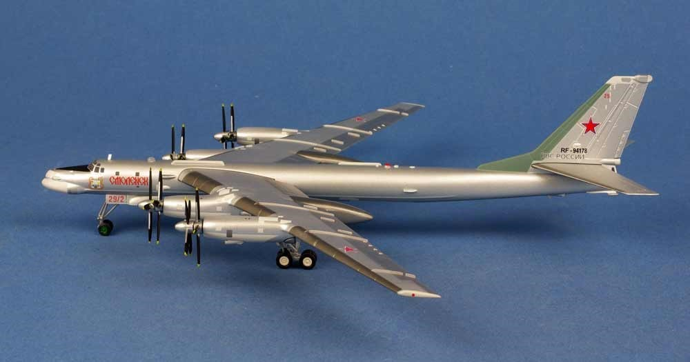 News Tupolev Tu 95ms Bear H Russian Air Force 1200 Diecast Model