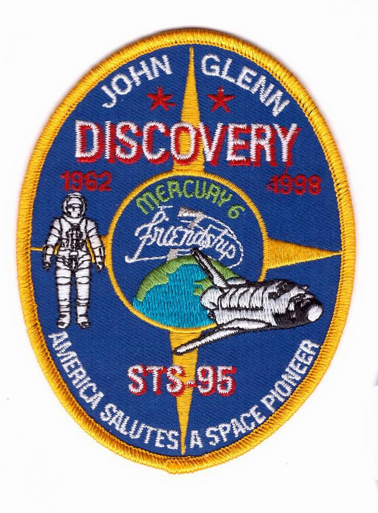 Patch NASA John GLENN DISCOVERY STS-95 Mercury 6 Friendship 7