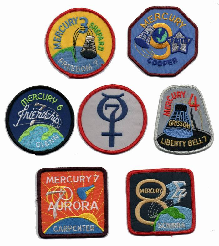 Image Gallery nasa mercury patches
