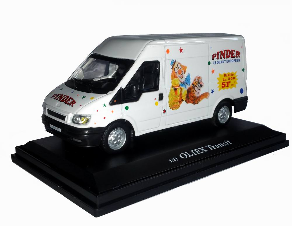 camionette miniature Ford Transit Pinder 1/43