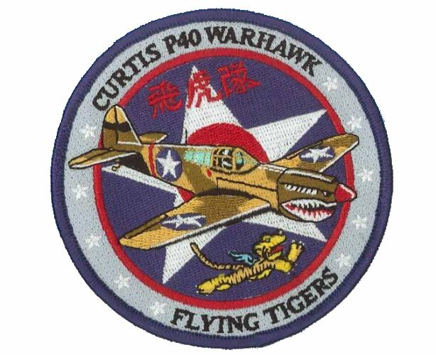 patch cusson curtis p40 flying tigers tigres volants ebay. Black Bedroom Furniture Sets. Home Design Ideas