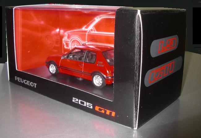 PEUGEOT 205 GTI 1.9L Rouge NOREV 1/43