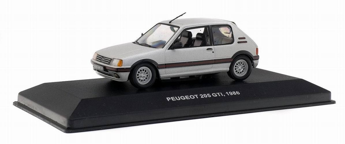 nouveaut s peugeot 205 gti 1 6l de 1986 gris m tallis voiture de collection 1 43 solido. Black Bedroom Furniture Sets. Home Design Ideas