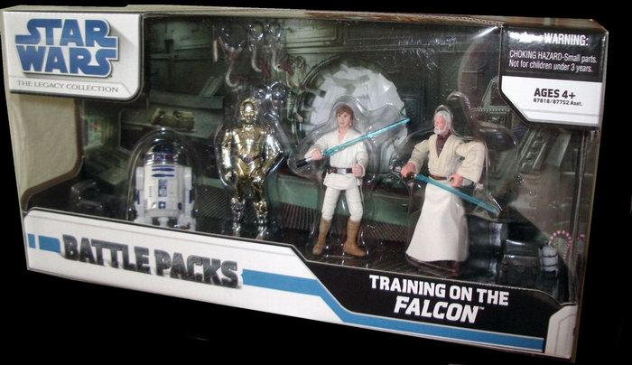 Star Wars Luke Skywalker, Obi-Wan Kenobi, R2-D2, C-3PO, Hasbro