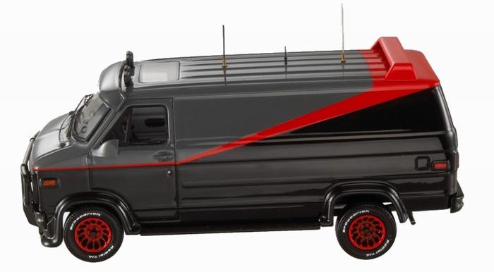 camionnette gmc vandura de l 39 agence tous risques en m tal. Black Bedroom Furniture Sets. Home Design Ideas