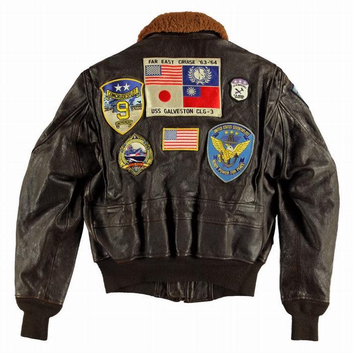 Blouson aviateur cuir Top Gun NAVY G1 COCKPIT