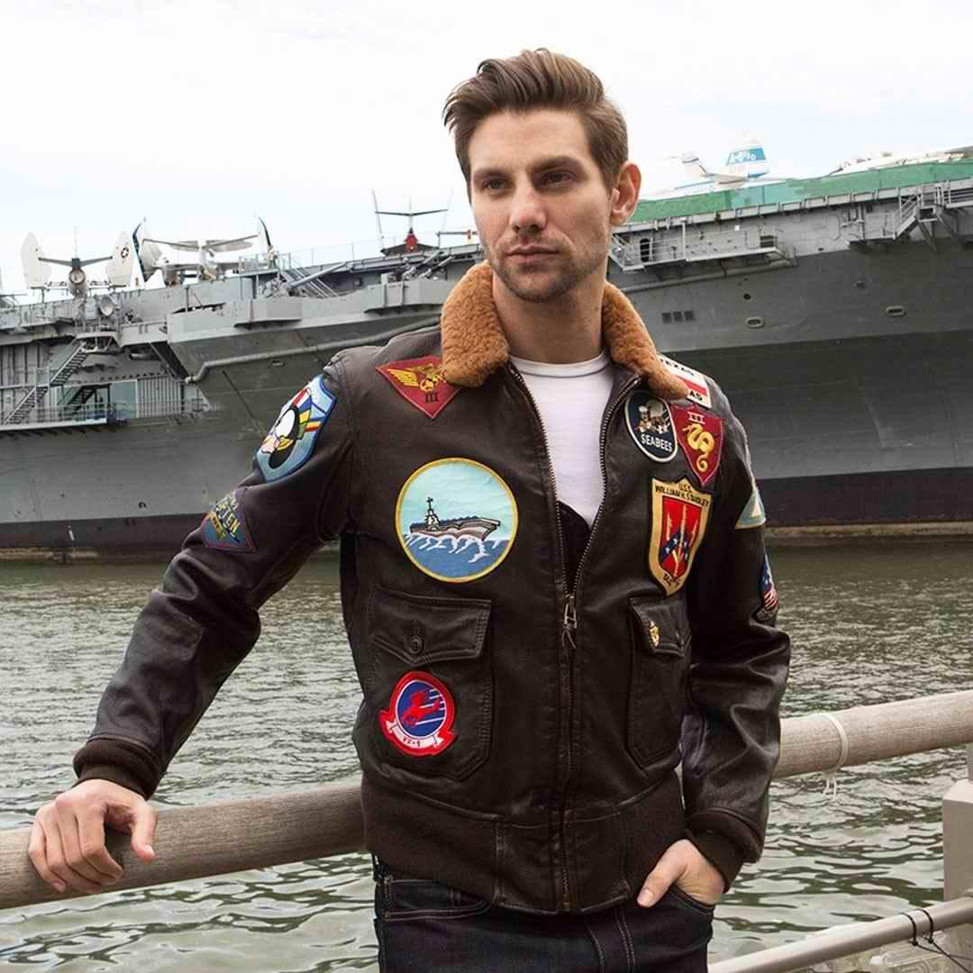 Blouson aviateur du film Top Gun Tom Cruise NAVY G-1 COCKPIT USA AVIREX
