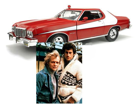 v hicule ford gran torino 1976 du film starsky et hutch en m tal au 1 43 ebay. Black Bedroom Furniture Sets. Home Design Ideas