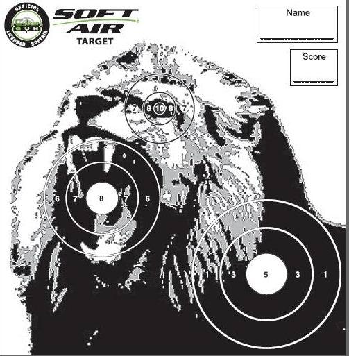 cible airsoft lion