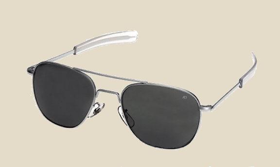 prod lunettes de soleil aviateur argent mat aoeyewear depuis  made in usa