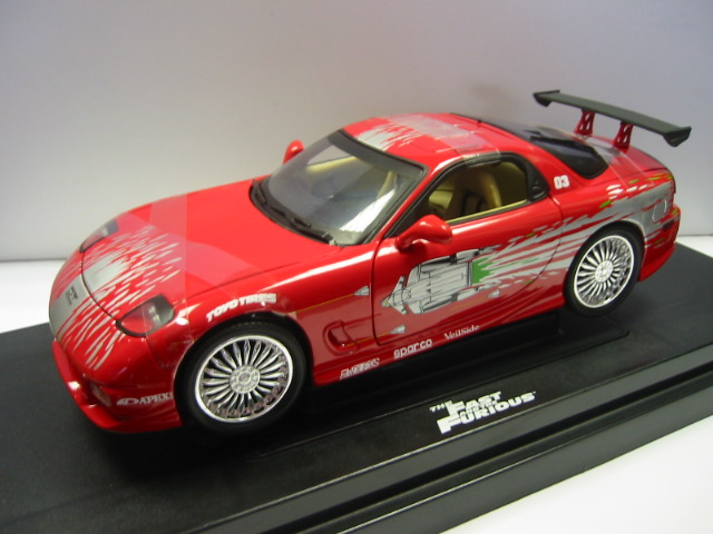 figurines > cars > movies > mazda rx-7 1993 car fast and furious 1/18