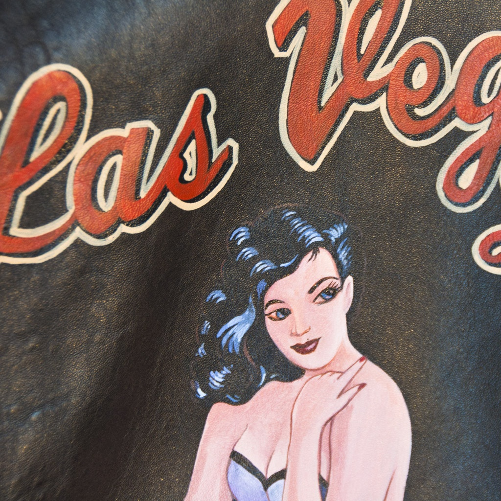 blouson cuir Pin up Las Vegas Lady