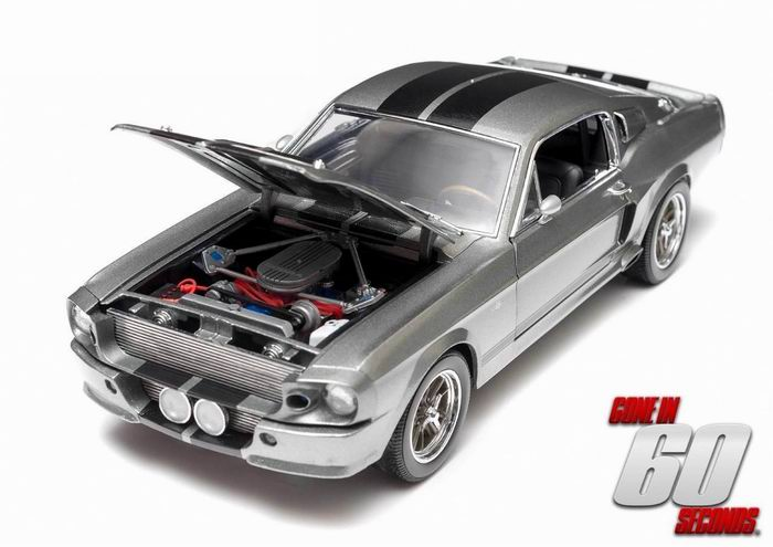 Voiture FORD MUSTANG Shelby GT 500E Eleanor 1967 60 Secondes Chrono Greenlight 1/18