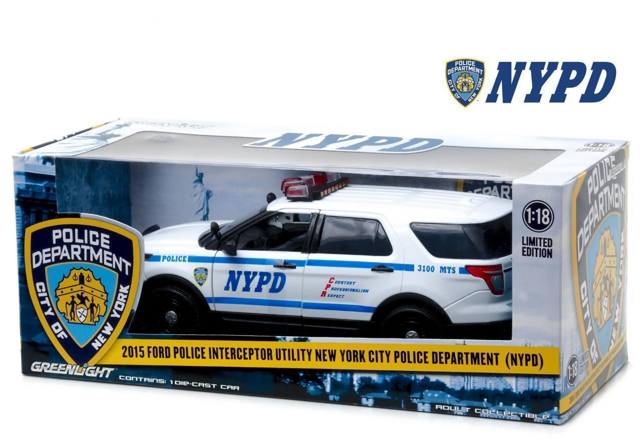 Voiture FORD POLICE INTERCEPTOR 2015 NYPD NEW YORK POLICE DEPARTMENT 1/18
