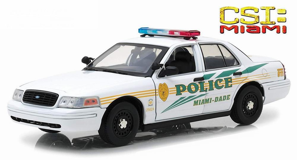 Voiture FORD CROWN VICTORIA 2003 POLICE INTERCEPTOR Les Experts MIAMI CSI 1/18